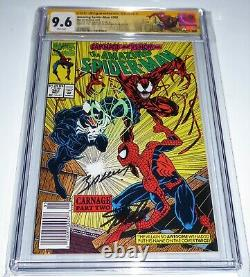 Amazing Spider-man #362 Cgc Ss Signature Autographe Stan Lee Mark Bagley Vert Sm