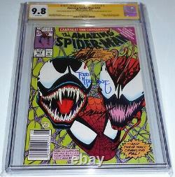 Amazing Spider-man #363 Cgc Ss 3x Signature Stan Lee Todd Mcfarlane Venom Bagley