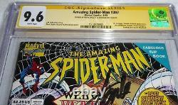 Amazing Spider-man # 397 Cgc Ss Double Signature Autograph Stan Lee Dr Octopus Pow