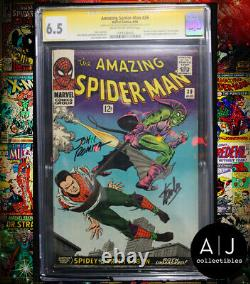Amazing Spider-man # 39 Cgc 6.5 Stan Lee + John Romita Signe! (merveille)