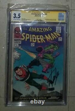 Amazing Spider-man 39 Stan Lee Signé Cgc Classé 3.5 Goblin Vert