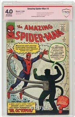 Amazing Spider-man 3 Cbcs 4.0 Pas Cgc (1ère App Doctor Octopus) Stan Lee Signé