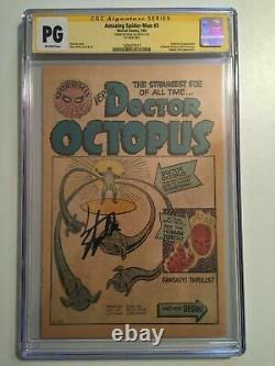 Amazing Spider-man #3 Cgc Ss 1ère Page Signée Stan Lee Premier Docteur Octopus Pg Gn