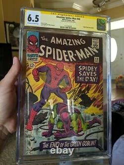 Amazing Spider-man #40 Cgc 6.5 Signé Par Stan Lee