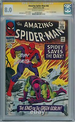 Amazing Spider-man #40 Cgc 8.0 Série Signature Signée Stan Lee John Romita Sr
