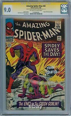 Amazing Spider-man #40 Cgc 9.0 Série Signature Signée Stan Lee John Romita Sr
