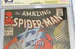 Amazing Spider-man #46 Cgc 6.5 (marvel) Signé Par Stan Lee Et John Romita
