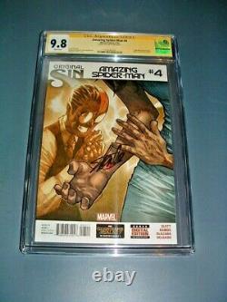 Amazing Spider-man #4 Cgc 9.8 Nm 1er Silk/cindy Moon Signé Stan Lee
