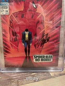 Amazing Spider-man 50 Cgc Ss 4.0 Première Apparition 1er Kingpin Stan Lee Signé
