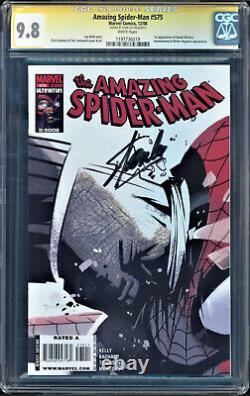 Amazing Spider-man #575 Cgc 9.8 Ss Stan Lee Signé Le Plus Haut Grade #1197736019