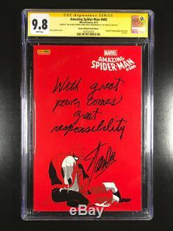 Amazing Spider-man 600 Cgc 9.8 Signé Inscrit Stan Lee Avec Grande Puissance Comes