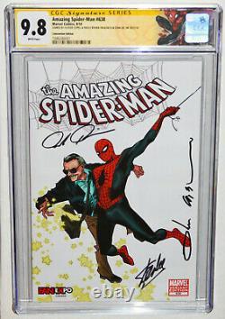 Amazing Spider-man #638 Cgc 9.8 Ss 3x Par Stan Lee, Coipel, Rivera À L'halloween