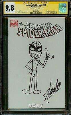 Amazing Spider-man 648 Cgc 9,8 Ss Stan The Man Lee Art Original Par Créateur 1