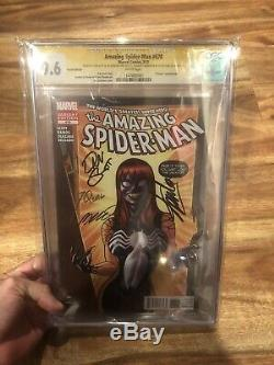 Amazing Spider-man 678 Cgc 9,6 Venom Variant 4x Signé Stan Lee Beautiful Comic
