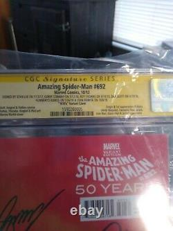 Amazing Spider-man 692 Cgc 9.6 Signé Stan Lee, Romita, Conway, Thomas, Plus