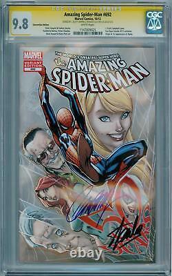 Amazing Spider-man 692 Fan Expo Cgc 9.8 Série Signature Stan Lee Scott Campbell