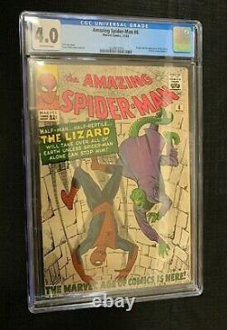 Amazing Spider-man #6 (marvel Comics) Cgc 4.0 1re Apparence Lizard! M. Stan Lee