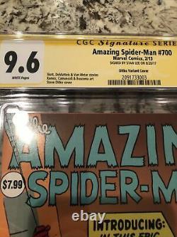 Amazing Spider-man #700 Cgc 9.6 Ss Ditko 1200 Variante Signée Stan Lee
