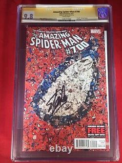 Amazing Spider-man # 700 Cgc 9.8 (autographié Par Stan Lee) Mort De Peter Parker