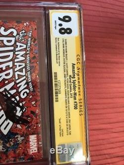 Amazing Spider-man 700 Cgc Ss 9.8 Signé Stan Lee 12x Signatures! Ne Manquez Pas