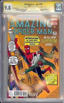 Amazing Spider-man #700 Ss Cgc 9.8 Signé Sur Stan Lee 90 Anniversaire Ditko Variante