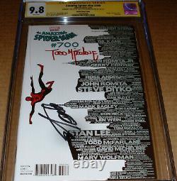Amazing Spider-man 700 Ss Cgc 9.8 Stan Lee Signe Todd Mcfarlane Skyline Variant