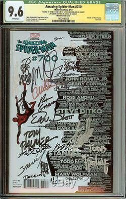 Amazing Spider-man # 700 Variant Skyline Cgc 9.6 Stan Lee, Mcfarlane Signé 26x