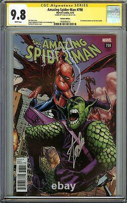 Amazing Spider-man #798 Cgc 9.8 Signed Stan Lee Variante Edition 1er Red Goblin