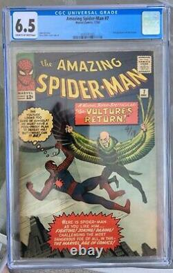 Amazing Spider-man #7 (1963) Cgc 6.5 - 2ème Application Vautour Stan Lee & Steve Ditko
