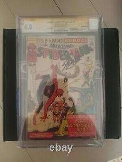 Amazing Spider-man Annual 1 Cgc 4.0 Signé Par Stan Lee