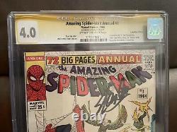 Amazing Spider-man Annual 1 Rare Canadian Edition Cgc 4.0 Signé Par Stan Lee