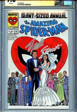 Amazing Spider-man Annual 21 Cgc 9,8 Ss X3 Stan Lee Romita Shooter Mary Jane Wp
