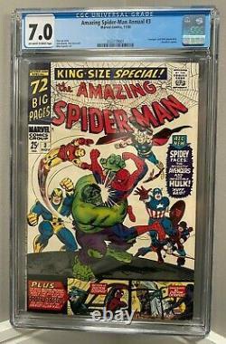 Amazing Spider-man Annual #3 Cgc 7.0 Stan Lee Story Silver Age 1966 Aucune Réserve