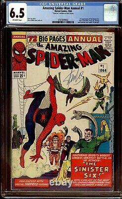 Amazing Spider-man Annuel 1 Cgc 6.5 Stan Lee Sig 1er Sinister Six