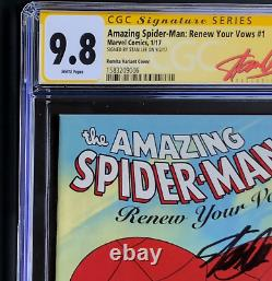 Amazing Spider-man Renouveler Vos Vœux #1 Cgc 9.8 Ss Stan Lee 11000 Romita Variante