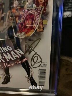 Amazing Spider-man Renouvelez Vos Titres #1 Cgc 9.8 Stan Lee & Mark Brooks Ss Freedift