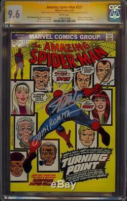 Amazing Spiderman 121 Cgc 2x 9,6 Ss John Romita Sketch Stan Lee Mort Gwen Stacy