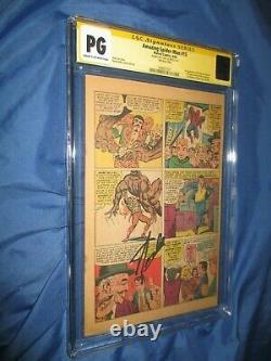Amazing Spiderman #15 Cgc Pg Page Ss Signé Par Stan Lee 1er Kraven Le Chasseur