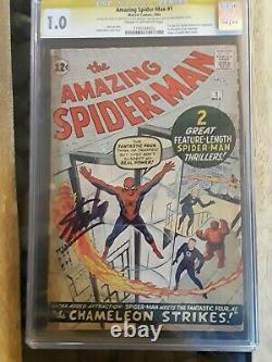 Amazing Spiderman 1 Cgc 1.0 Ss Signé Par Stan Lee 1963. La Clé Du Graal. Nuff A Dit  :