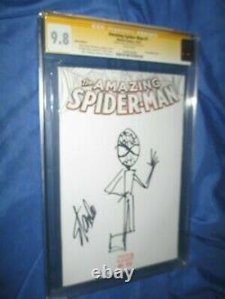 Amazing Spiderman #1 Cgc 9.8 Ss Signé Par Stan Lee Avec Original Art Sketch Par Stan