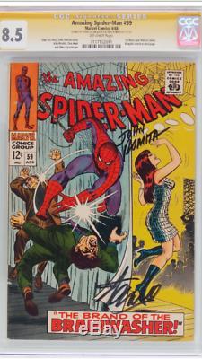 Amazing Spiderman 59 Cgc 8.5 Ss Signé Par Stan Lee Et John Romita! Hot Copy
