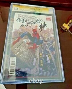 Amazing Spiderman #700 Cgc 9.8 Coipel Variante Signée Stan Lee & Ramos
