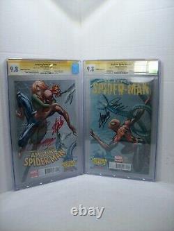 Amazing Spiderman 700 & Superior Spiderman 1 Cgc Ss 9,8 2x Stan Lee Midtown