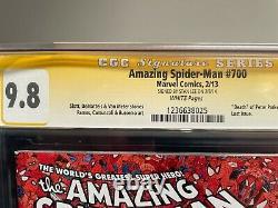 Amazing Spiderman #700 (signé Par Stan Lee) Cgc 9.8 Décès De Peter Parker