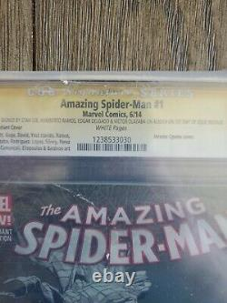 Amazing Spiderman Cgc 9.8 Signé Par Stan Lee Limited 1 Pour 75