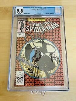 Amezing Spider-man #300 Cgc 9.8 Signé 2x Stan Lee Todd Mcfarlane 1er Venom