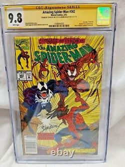 Amezing Spider-man #362 Cgc 9,8 Ss 2x Signé Par Stan Lee & M Bagley Newstand