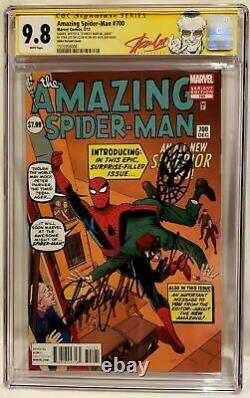 Amezing Spiderman #700 Ditko Cgc 9.8 Ss Stan Lee 94e Bday Signed Head Sketch