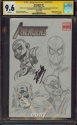 Avengers 1 Cgc 9.6 5x Ss 4x Croquis Romita Colan Trimpe Sinnott Signé Stan Lee