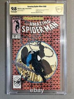 Cbcs Incroyable Spider-man # 300 Cgc 9.8 Ss Stan Lee 1er Venom